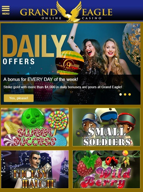 Grand Eagle Casino free bonus for new players