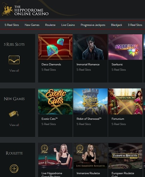 Hippodrome Online Casino Review