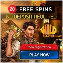 Wildblaster Casino 20 FS no deposit + €400 bonus + 100 free spins
