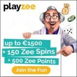 Playzee Casino [register & login] 150 free spins + €1500 extra bonus