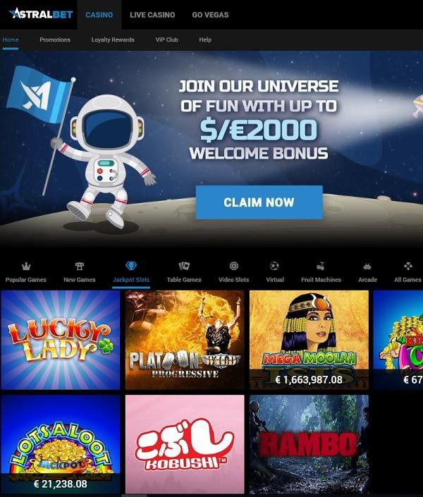 AstralBet Casino free games and big winners
