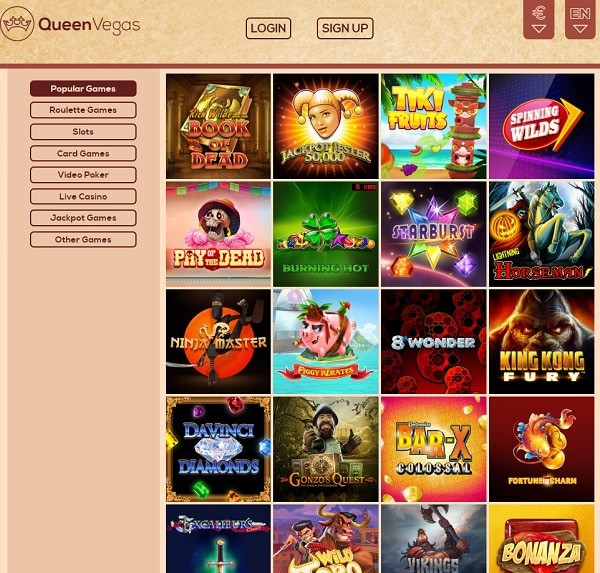 Queen Vegas Casino free play games