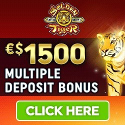 Get $1500 free bonus on jackpot game at Golden Tiger Casino!