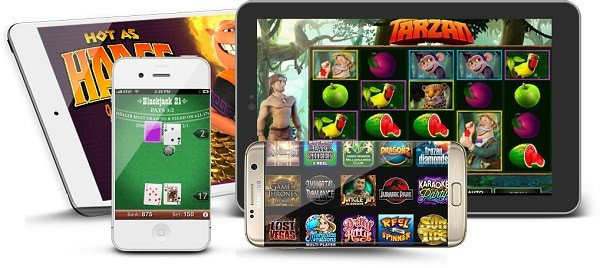 Microgaming slots, jackpots and table games