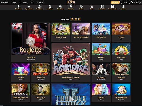 Jackpot Village Online Casino Review