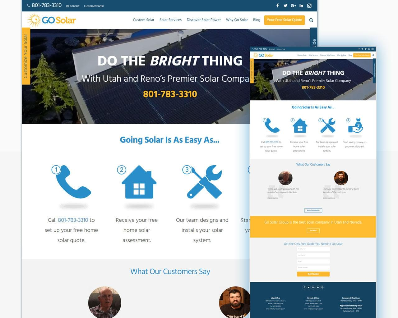 Professional Website Template Design Landing Pages