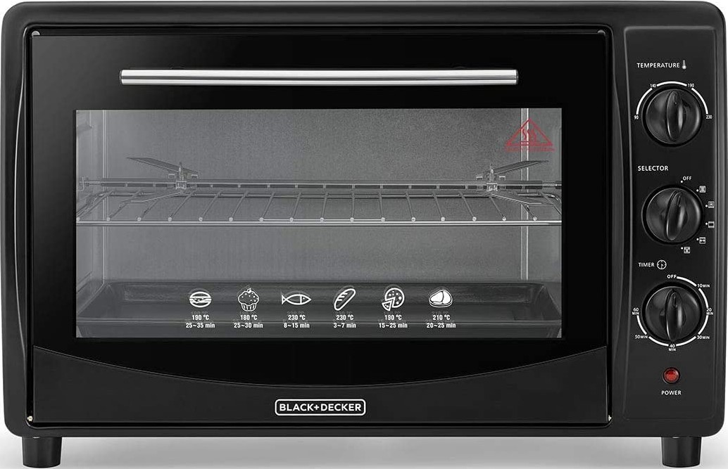 decker double glass toaster oven with
