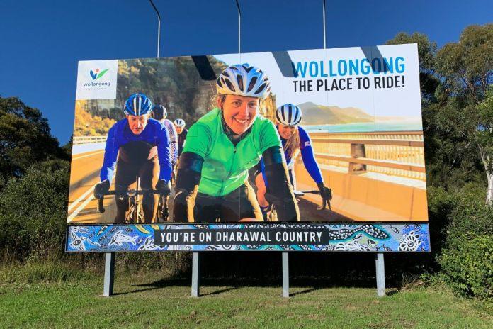 Wollongong Cycling Billboard