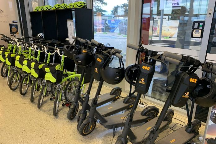 Canberra Visitor Centre e-scooter hire