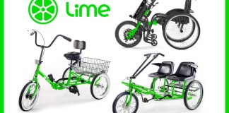 Lime Able e-scooters, tricycles and wheelchair assist