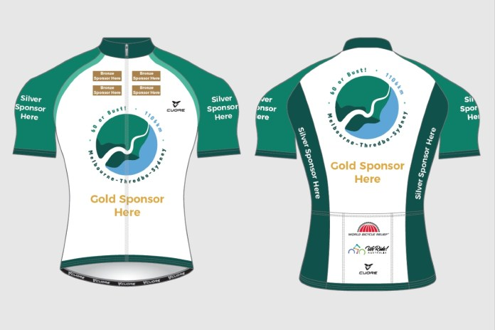 Sponsorship placement on cycling jersey