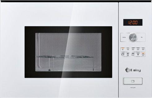 Microondas Integrable con grill balay 3wg365bic tiene 20 litros de capacidad, 900 vatios de potencia y 1000 vatios de capacidad de grill