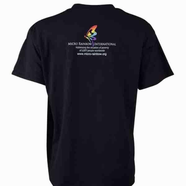 """T-Shirt """"Part gay, all human"""" black"""