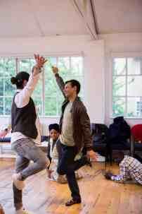 Refugees at a dance workshop