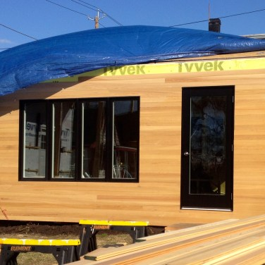 Siding nearly completed