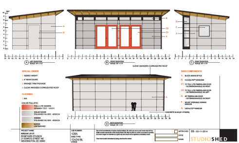 Original plans from Studio Shed