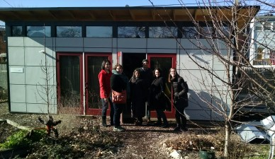 US Climate Action Network staff visit to Micro Showcase Jan 2015
