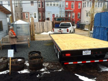 DC Students Tiny House trailer arrives