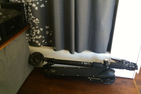 Compact storage of the scooter