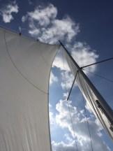 Under full sails...