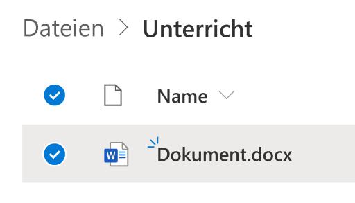 Datei markieren