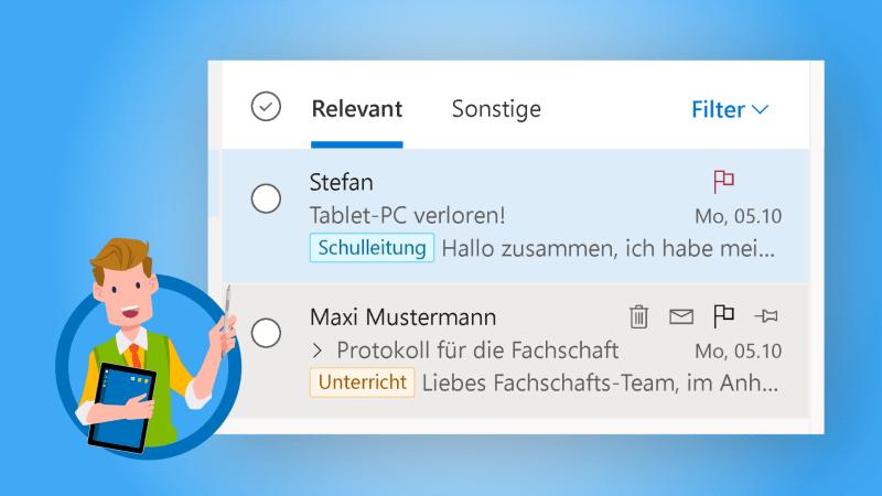 Outlook - E-Mails im Posteingang sortieren