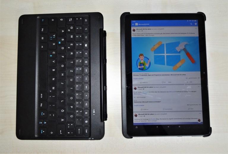 Bluetooth-Tastatur zum Fire HD 10 Plus
