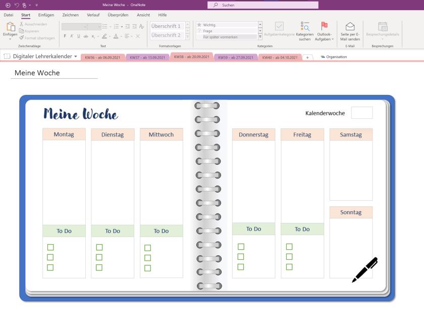 Notizbuch-Grafik als Bild in OneNote