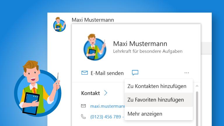 Outlook: Kontakte im Adressbuch verwalten