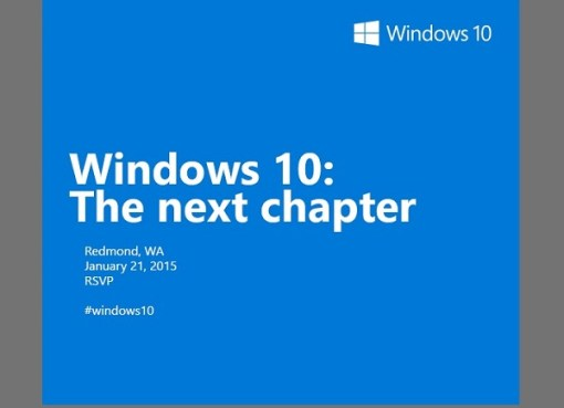 Windows 10 invitation : The next chapter