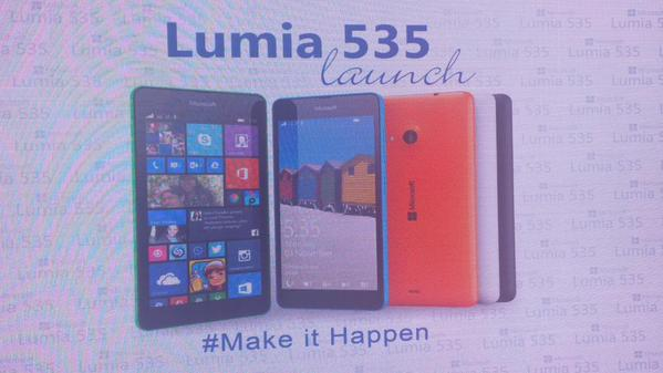 Lumia 535 launch