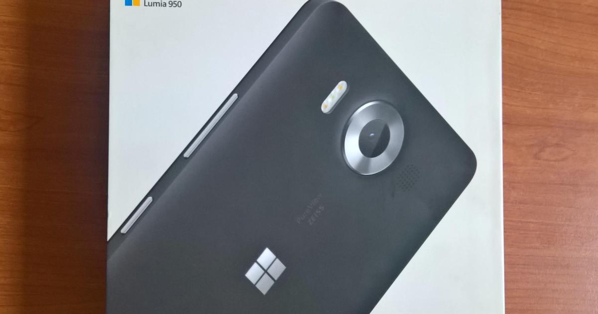 Lumia 950 Dual SIM box
