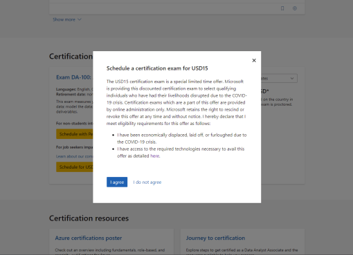 Microsoft certifications exam discount