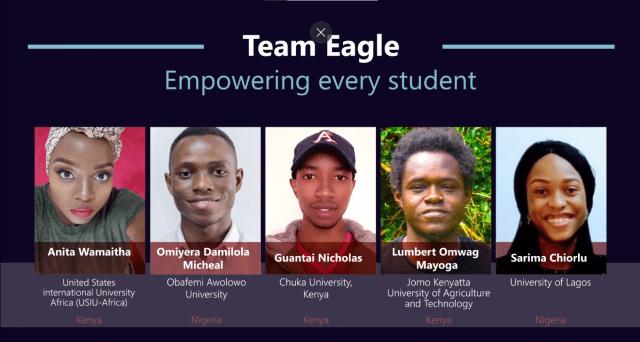 Microsoft Hackathon Game of learners Africa