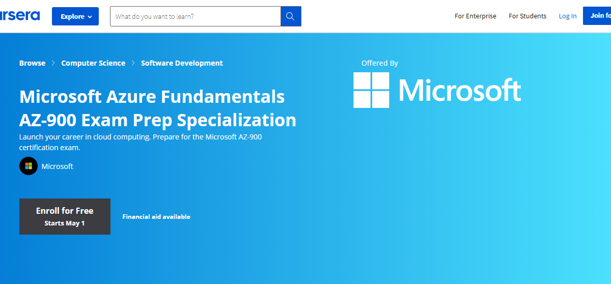 Azure Specialization courses