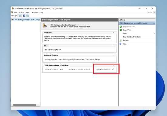 TPM en Windows