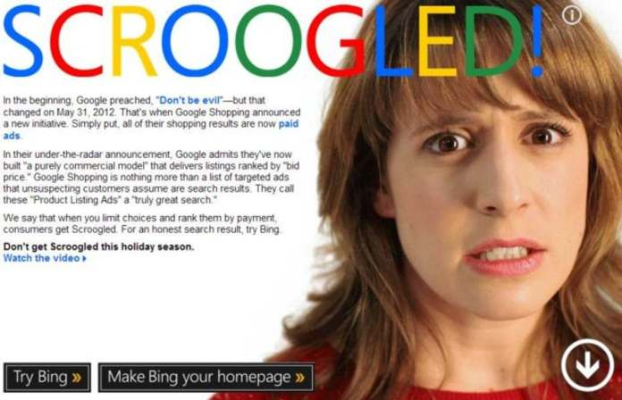Microsoft's Scroogled Campaign Against Google