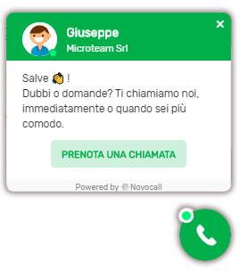 Click-to-call widget operatore