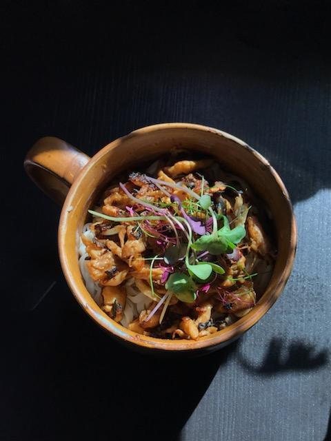 Pulled Mushroom Szechuan Noodles