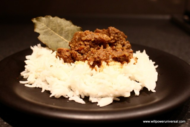 Microwave Venison Curry
