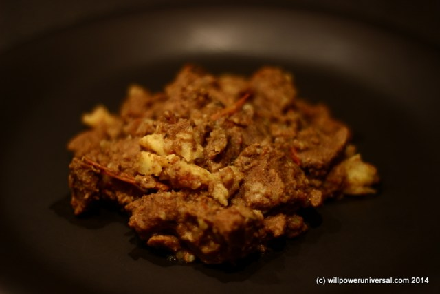 venison curry, recipe, with potatoes, spices, microwave recipe