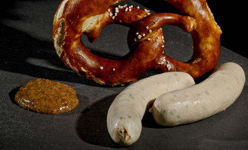 German White Sausage and Pretzel