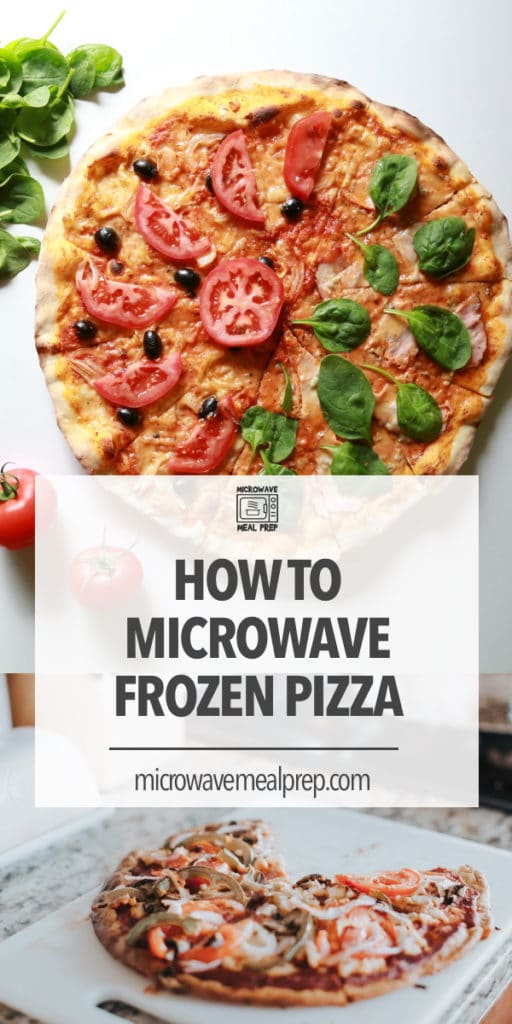 how to microwave frozen pizza