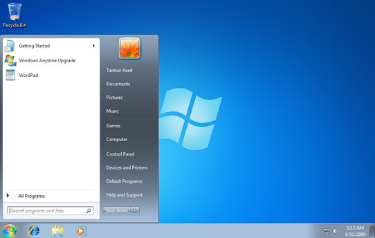 Windows 7 Starter Background Changer MicroZOOM Prenez