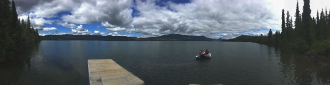 Kinaskan Lake from the Provincial Park