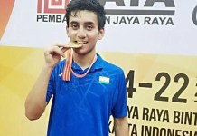Gold medal at badminton after 53 years