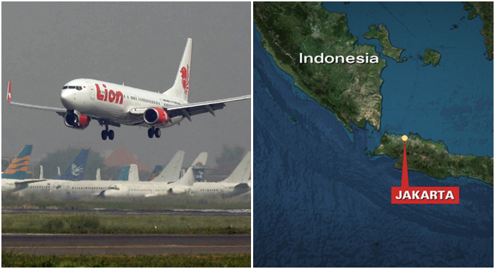 Lion Air flight loses contact, search in Indonesian seas..about 6.20 a.m. for Pangkal Pinang on an island chain off Sumatra
