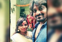 Telugu News tv serial junior artist protesting in front of her husband's house