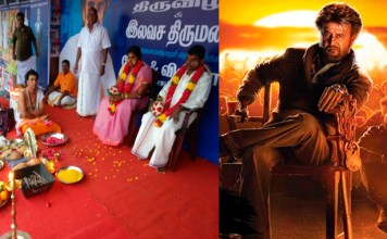 Telugu News rajinikanth fans get married outside of peta showing theater