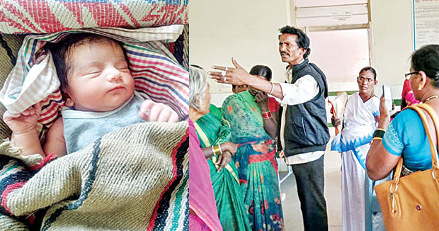 Telugu news Parents are hard .. The girl is born without giving milk.